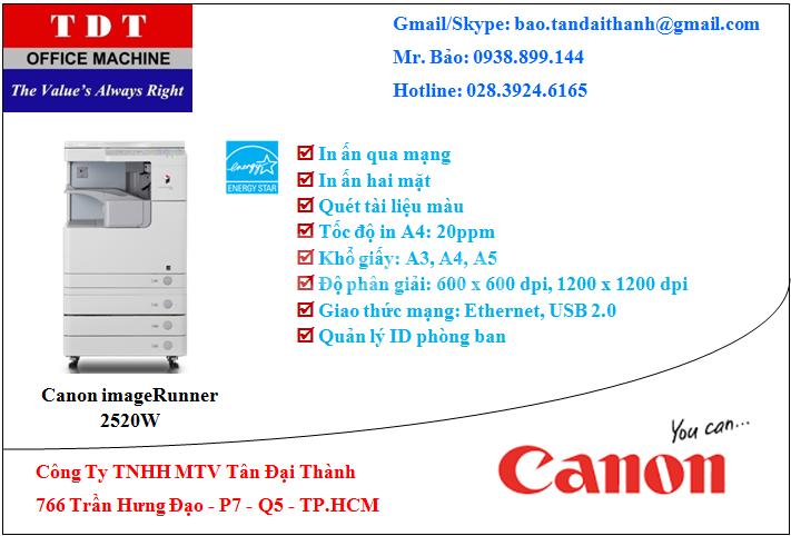 Máy Photocopy Canon ir 2520W giá rẻ - Master Dealer Canon VN
