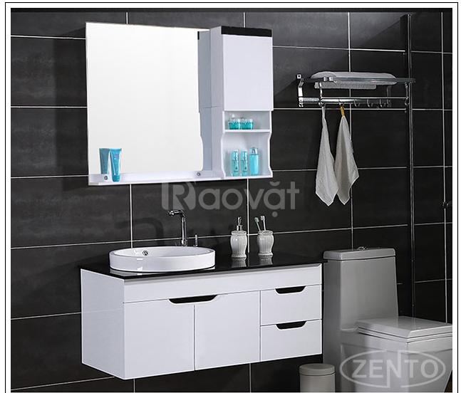 Bộ tủ, chậu bàn đá, kệ gương Lavabo ZT-LV990 (100cm)