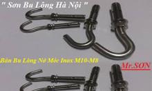 Nở móc treo inox M8,M10 giá rẻ, bán nở đinh, nở đóng inox