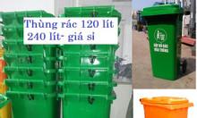 Thùng rác 120 lít, 240 lít, 660 lít giá rẻ Bình Dương- thùng rác