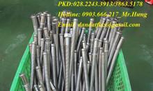Ống 1 đầu racco ron +1 đầu kép inox 304(ống không lưới) - khớp nối mềm