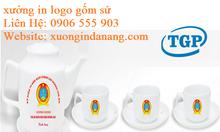 Ly sứ in logo tại Bình Định, bộ tách trà in logo tại Bình Định