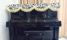 Khăn phủ đàn piano trắng pha đen