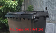 Thùng rác đen y tế 660 lít, xe rác 660 lít đựng rác nguy hại