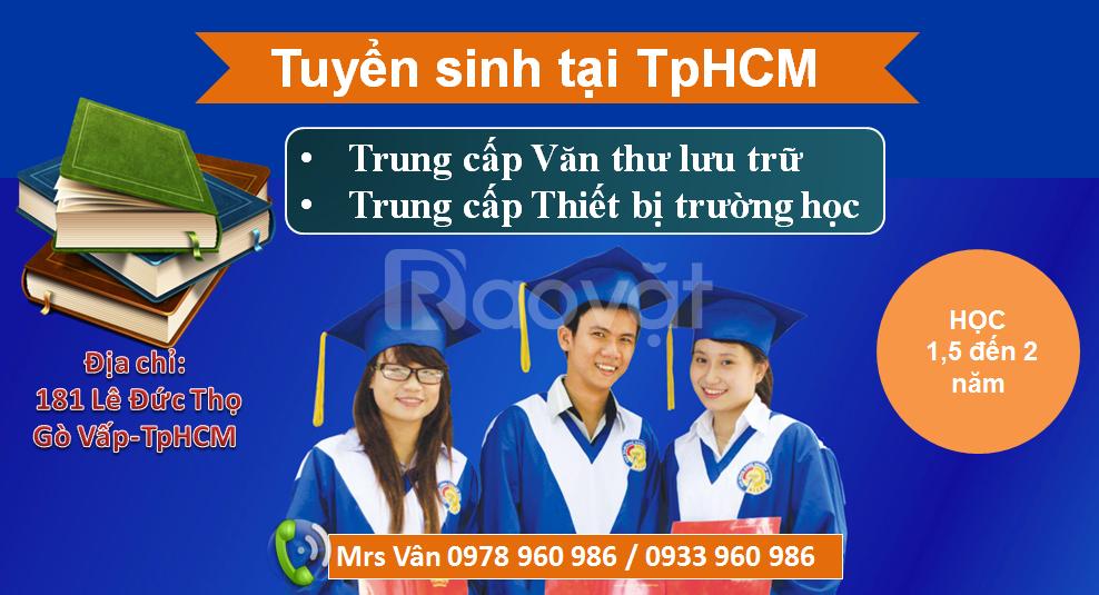 Trung cấp văn thư lưu trữ 2018 ở đâu TpHCM