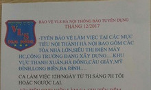 Nhân viên bảo vệ an ninh Hà Nội