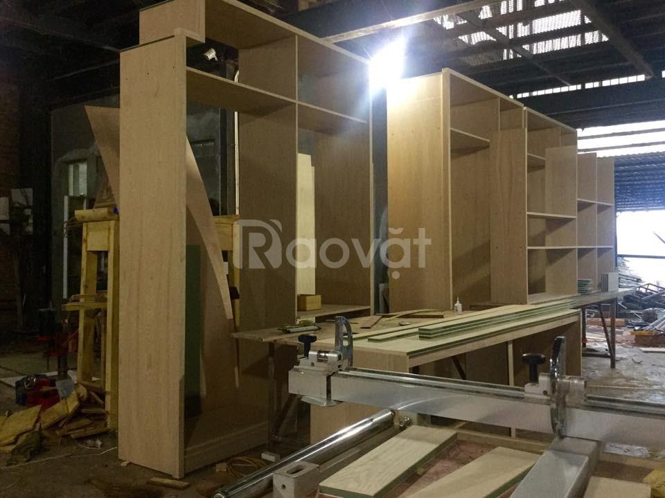 Đóng đồ gỗ Quận Tân Bình, giường, tủ áo, bàn ghế, quầy, kệ, tủ kệ bếp