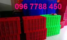 Bán rổ nhựa công nghiệp - rổ nhựa đan có bánh xe