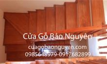Bán tay vịn lan can mặt bậc cầu thang gỗ tại Hà Nội