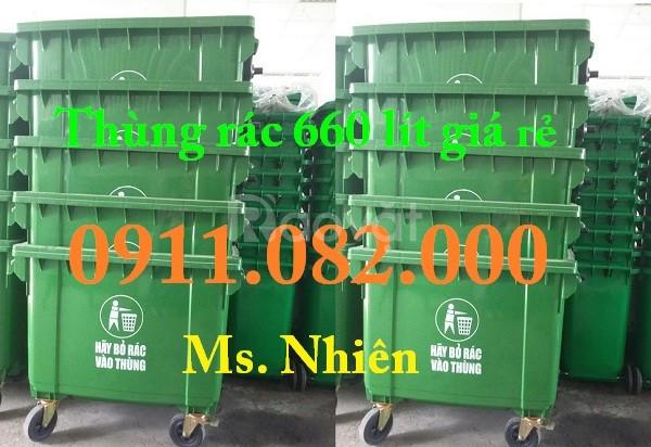 Thùng rác rẻ, chất lượng, thùng rác 120 lít, thùng rác 240l