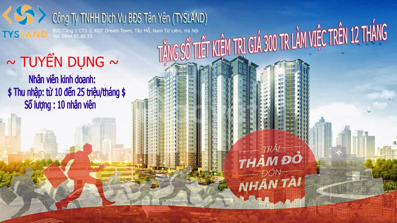 Tuyển 20 NVKD BĐS dự án Thái Nguyên