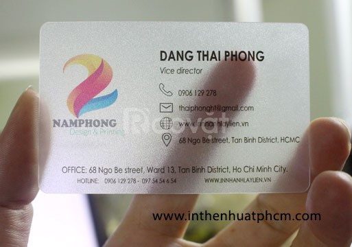 In name cards, visit cards business