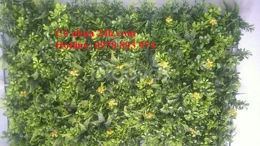 Tấm cỏ nhựa treo tường, tấm cỏ giả trang trí tường giá rẻ