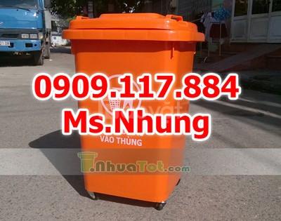 Thùng rác nhựa công cộng, thùng nhựa đựng rác ngoài trời