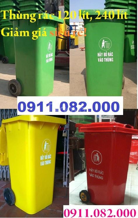 Phân phối thùng rác công cộng, thùng rác y tế giá rẻ, thùng rác 240lít