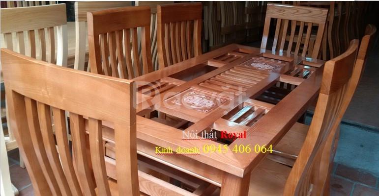 Lộc tết đến nhà - Bộ bàn ăn gỗ sồi nga