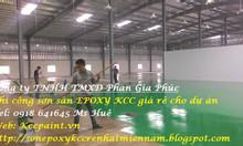 Sơn lăn sàn epoxy - sơn tự phẳng kcc giá rẻ Sài Gòn, EPOXY Tây Ninh