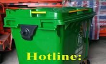 Xe gom rác 660 lít giá sỉ tại Ninh Bình