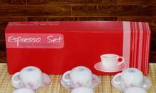 Bộ tách trà thẳng nhỏ Cúc Hồng