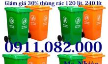 Bán thanh lý thùng rác y tế, thùng rác 120 lít, thùng rác 240 lít giá
