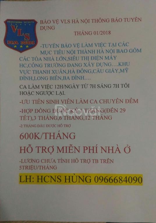 Bảo vệ tại nội thành Hà Nội