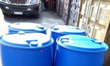 Bán thùng phuy nhựa kín 220 lít đựng hóa chất, thùng phuy nhựa mới 220