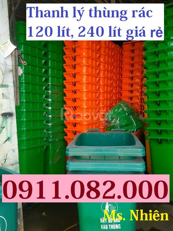 Đại lý cung cấp thùng rác công nghiệp, thùng rác 120 lít, 240 lít