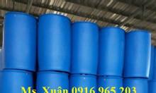 Bán thùng phuy nhựa 220 lít nắp kín, phuy nhựa đựng hóa chất 220 lít