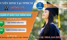 Học quản lý giáo dục mầm non 1.5 tháng tại TpHCM