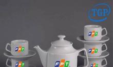 Xưởng in ấm chén, bình trà in logo khách hàng tại Quảng Ngãi