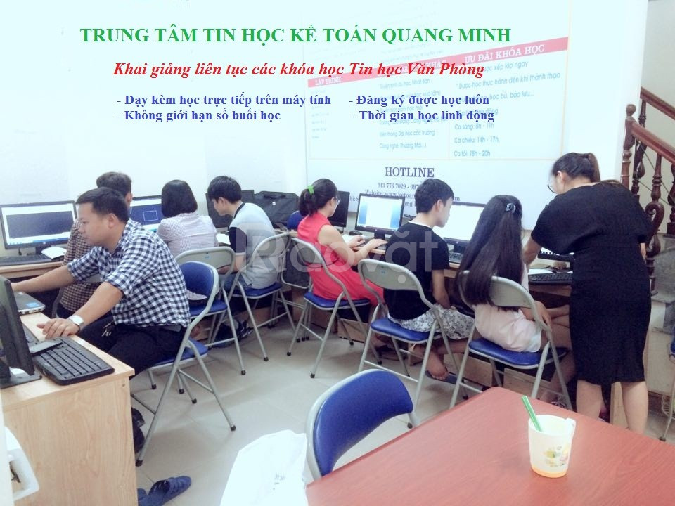 Địa chỉ học tin học văn phòng ở Hà Nội