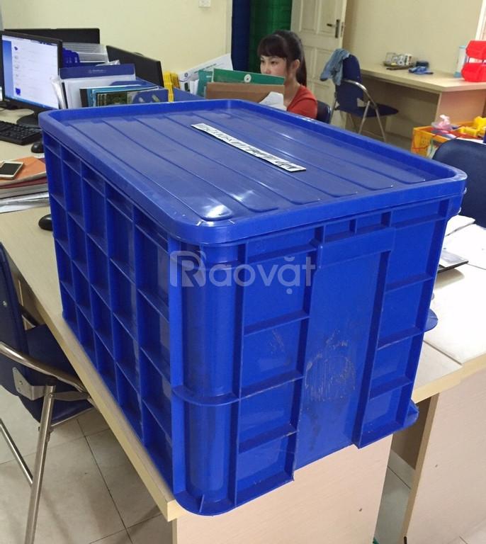 Thung nhựa đặc 8T KT 610x420x390