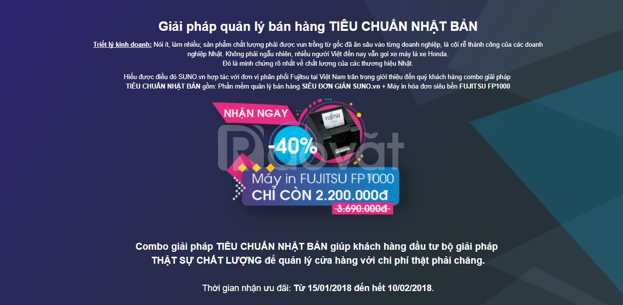 Suno Super Sale - Phần mềm tính tiền, quản lý bán hàng