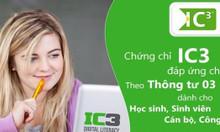 Thi chứng chỉ IC3 cam kết đỗ 100% - Xin công chức nhà nước