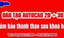 Nên học Autocad 2D - 3D ở đâu gần Cầu Giấy, Nhổn