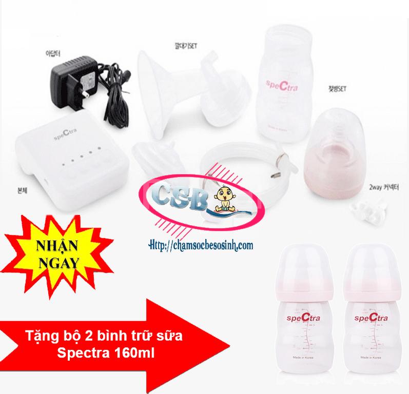 Máy hút sữa Spectra Q + Tặng bộ 2 bình trữ sữa spectra : 180.000