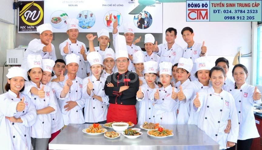 Học đầu bếp chuyên nghiệp tại trường dạy nấu ăn Hà Nội