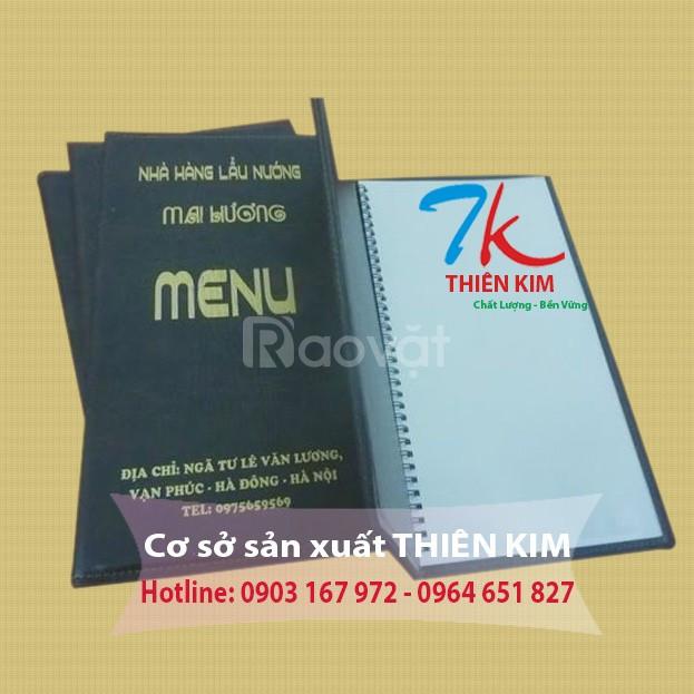 Cơ sở sản xuất bìa menu, chỗ sản xuất menu nhà hàng