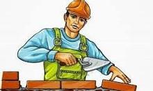 Gấp thợ xây và phụ đi làm tại công trình