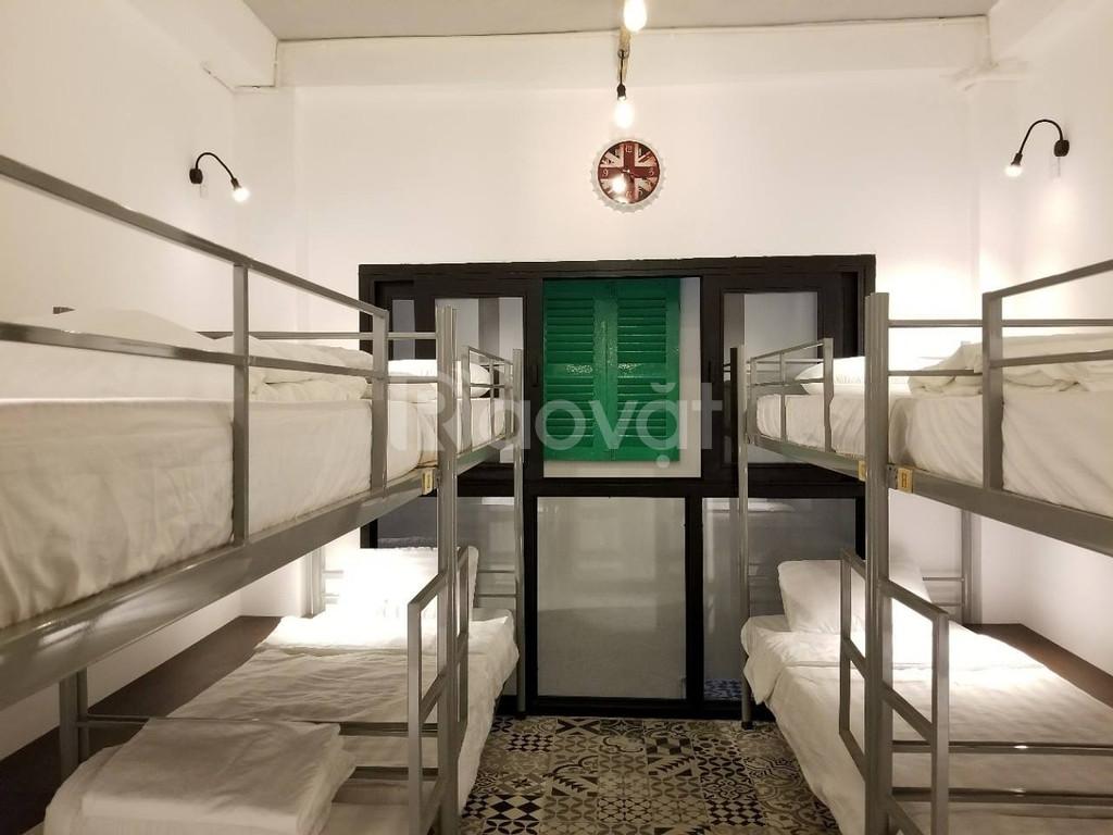 Giường tầng sắt & nệm gòn