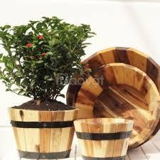 Chậu gỗ tròn bộ 4