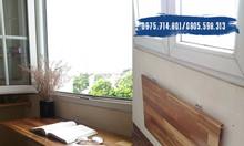 Bàn gấp treo tường gỗ ghép thanh PU chống nước, độ bền trên 3 năm