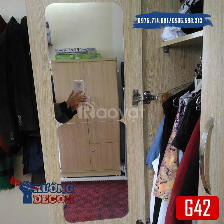 Miếng gương dán tủ, nhà tắm nhiều kích thước nét căng như gương