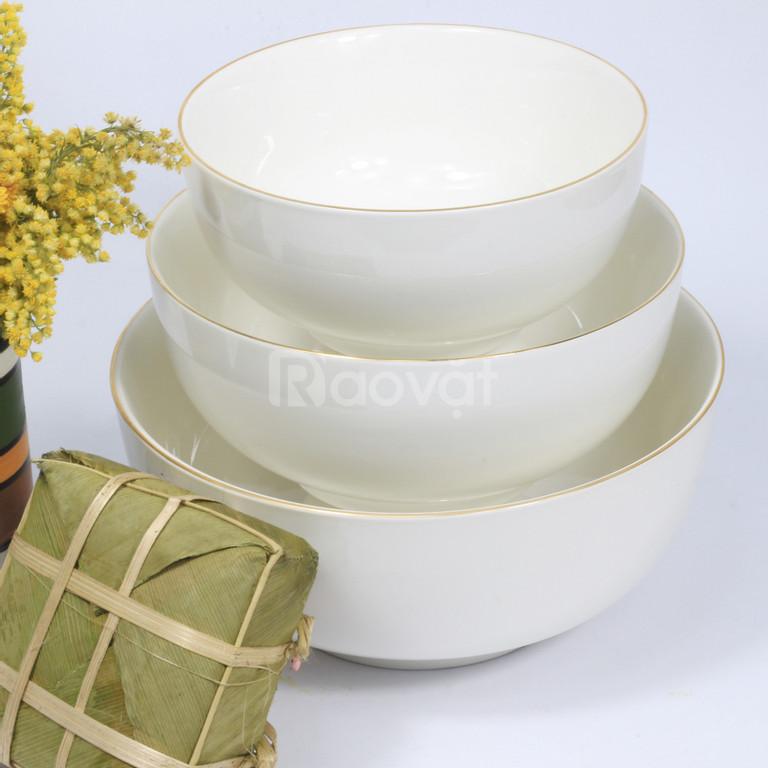 Chuyên cung cấp, phân phối sỉ và lẻ bát đĩa sứ trắng Minh Châu