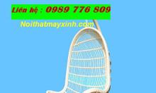Ghế xích đu mây cho ban công hẹp tại HN, SG