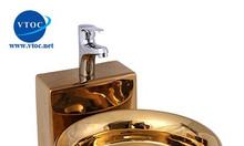 Chậu rửa lavabo bàn đá VTOC 006