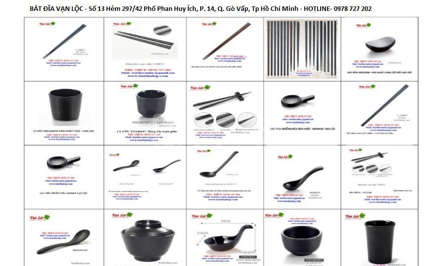Chuyên bán chén dĩa tô đũa Hàn Nhật bát đĩa melamine nhà hàng đẹp