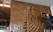 Chất liệu gỗ cao cấp cho mẫu vách ngăn cầu thang CNC và lam gỗ