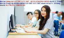 Lớp học trung cấp văn thư lưu trữ ở Hà Nội cấp tốc