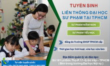 Liên thông sư phạm tiểu học bằng do ĐHSP TPHCM cấp